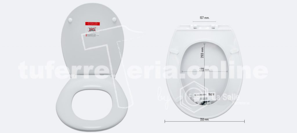 como saber la medida de la tapa del inodoro